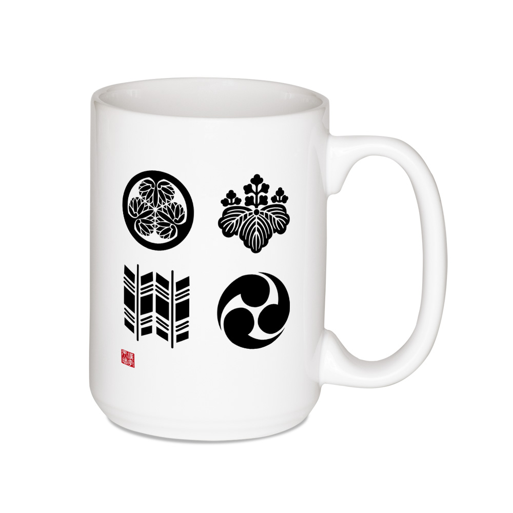 4 家紋 (Kamon) Japanese crests design Mug