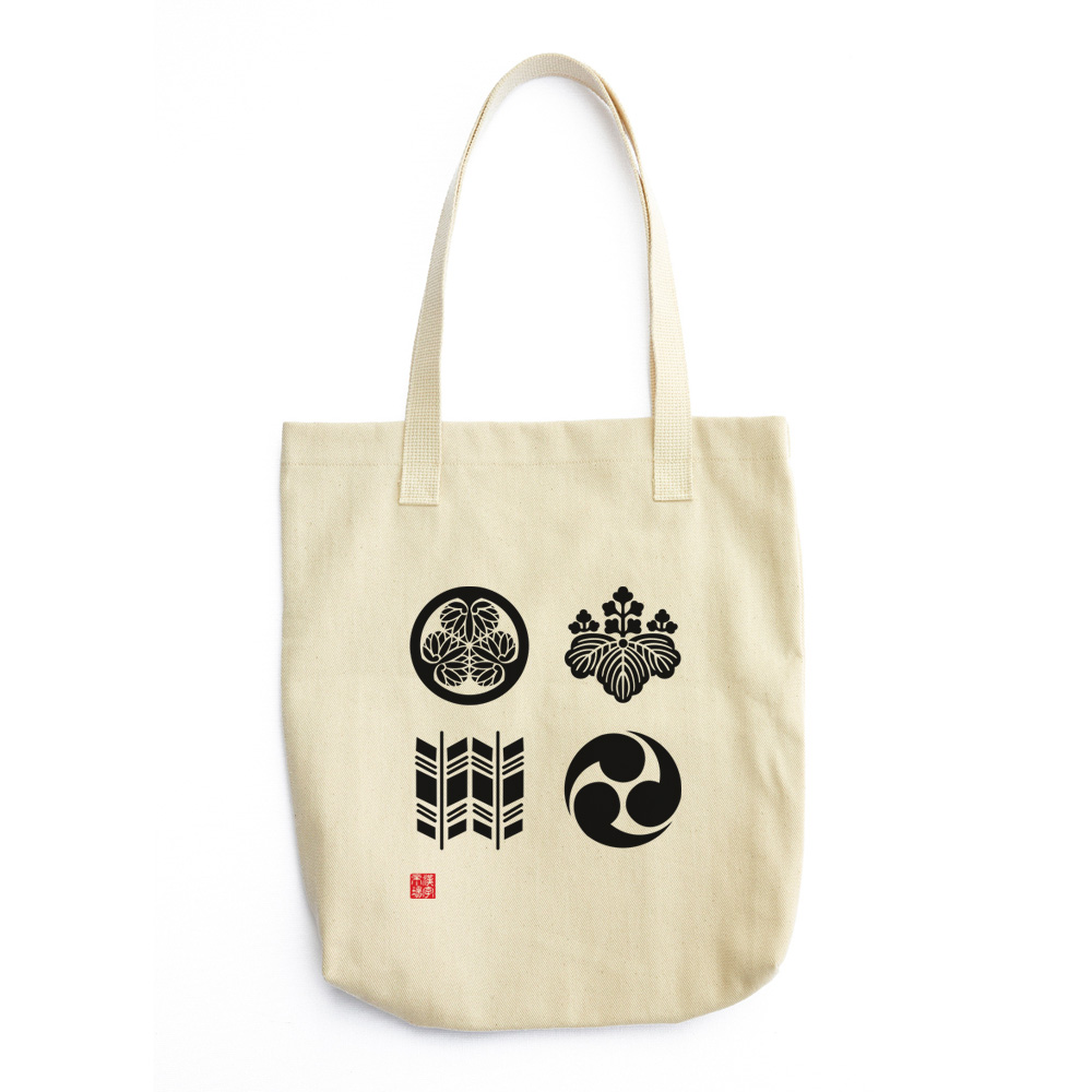 4 家紋 (Kamon) Japanese crests design Tote Bag