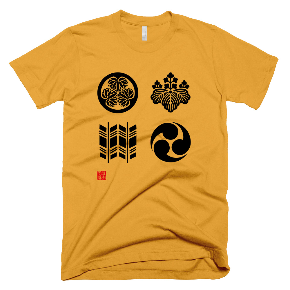 家紋 Kamon design T-shirt gold